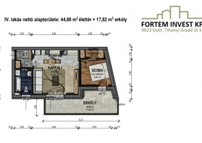 Értékesítési alaprajz 4. lakás